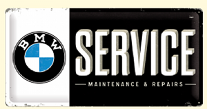 BMW Service large embossed steel sign    (na 5025)